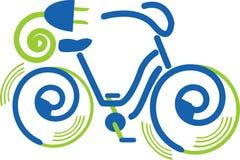 Elektro fiets vector illustratie