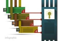 Elektro infographics Royaltyfri Fotografi