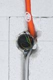 Elektro installatie stock fotografie