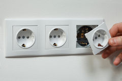 Elektro installatie Stock Foto