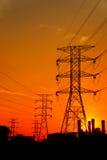 Elektro krachtcentrale Royalty-vrije Stock Foto's