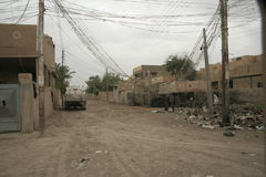 Elektro Kwesties in Irak Stock Afbeelding
