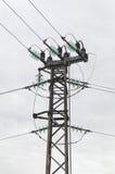 Elektro luchtlijn Stock Foto's