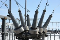 Elektro machtsapparatuur Stock Foto's