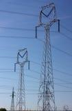 Elektro machtslijnen Royalty-vrije Stock Afbeeldingen