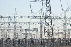 Elektro netwerk Stock Afbeeldingen
