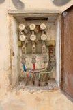 Elektro oude doos stock foto's