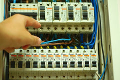 Elektro paneel Stock Fotografie