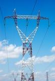 Elektro powerlines Stock Foto's