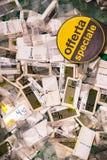 Elektro tarifering voor goederen in de supermarkt Pam royalty-vrije stock afbeelding