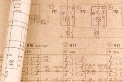 Elektro tekeningen stock foto