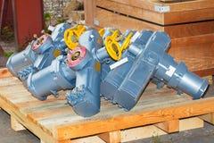 Elektroactuators klaar te verzenden stock afbeelding