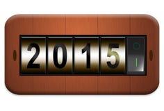 Elektroafzet nieuw jaar 2015 Stock Fotografie