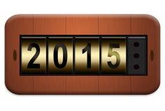 Elektroafzet nieuw jaar 2015 Royalty-vrije Stock Foto's