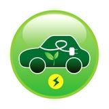 Elektroauto oder Elektro-Mobil mit dem grünen Energiekonzept, zum der Energie zu sparen lizenzfreie abbildung