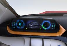 Elektroauto ` s Armaturenbrettkonzept Lizenzfreies Stockbild