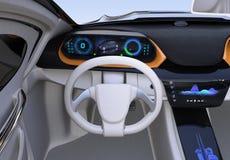 Elektroauto ` s Armaturenbrettkonzept Lizenzfreies Stockfoto