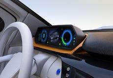 Elektroauto ` s Armaturenbrettkonzept Lizenzfreie Stockfotos