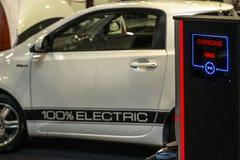 Elektroautoaufladung Stockfotografie