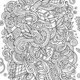 Elektroautoillustration Gekritzel der Karikatur nette Stockfotografie