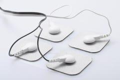 Elektroden und elektrisches Anregungsgerät stockfoto