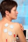 Elektroden van tientallenapparaat Stock Foto