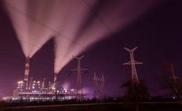 Elektroelektrische centrale in Obrenovac royalty-vrije stock afbeelding