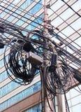 Elektrokabels in Azië royalty-vrije stock foto