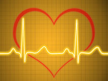 Elektrokardiogram ecg, graf, pulsspåring Royaltyfri Fotografi