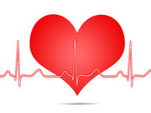 Elektrokardiogramm, ecg, Diagramm, Impulsverfolgung Lizenzfreie Stockfotografie