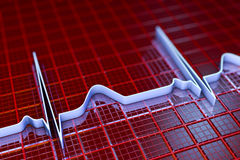 Elektrokardiogramm, ECG-Hintergrund Lizenzfreies Stockbild