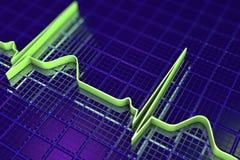 Elektrokardiogramm, ECG-Hintergrund Lizenzfreie Stockfotos