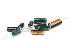 Elektrolytiska kondensatorer royaltyfri foto