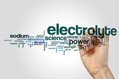 Elektrolytordmoln arkivfoto