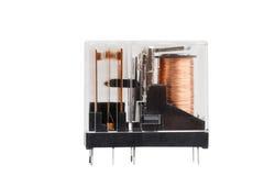 Elektromagnetisches Relais lokalisiert auf Weiß lizenzfreies stockfoto