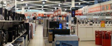 Elektromarkt consumer electronics  store Royalty Free Stock Photo