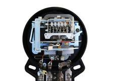 Elektromechanisches Strommeter Stockbild