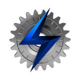 Elektromekanisk symbol Royaltyfri Foto