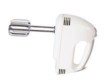Elektromixer auf weißem Hintergrund Stockfoto