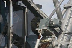 Elektromotor des Riesenrads Stockfoto