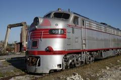Elektromotorische e9 diesel elektrische locomotief stock afbeeldingen