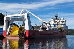Elektron Drammen - Statnett transport. Elektron Drammen´s usually transport sea cables for Nexans in Halden Norway Stock Photos