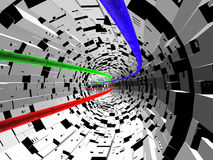 Elektron-Tunnel Stockbild