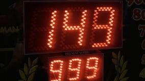 Elektroniczna deska hazard maszyna pokazuje liczbę punkty zdobywający punkty zdjęcie wideo