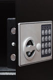 Elektroniczna domowa bezpieczna klawiatura, Mały dom lub hotel ścienna skrytka z klawiaturą, Obrazy Stock