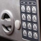 Elektroniczna domowa bezpieczna klawiatura, Mały dom lub hotel ścienna skrytka z klawiaturą, Obrazy Royalty Free
