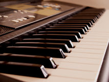 Elektroniczna fortepianowa klawiatura Fotografia Stock