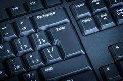 Elektroniczna kolekcja - czarna komputerowa klawiatura Ostrość na th Obrazy Royalty Free