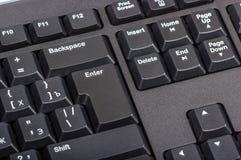 Elektroniczna kolekcja - czarna komputerowa klawiatura z kluczem wchodzić do Obraz Royalty Free