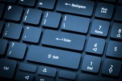 Elektroniczna kolekcja - laptop klawiatura Ostrość na wchodzić do Obraz Royalty Free